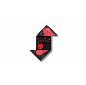 Happy Socks Valentine Box 2-Pack červené XVAL02-9300